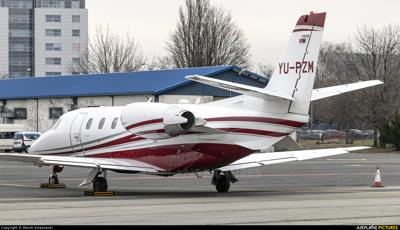 Airpink YU-PZM aircraft at Warsaw - Frederic Chopin