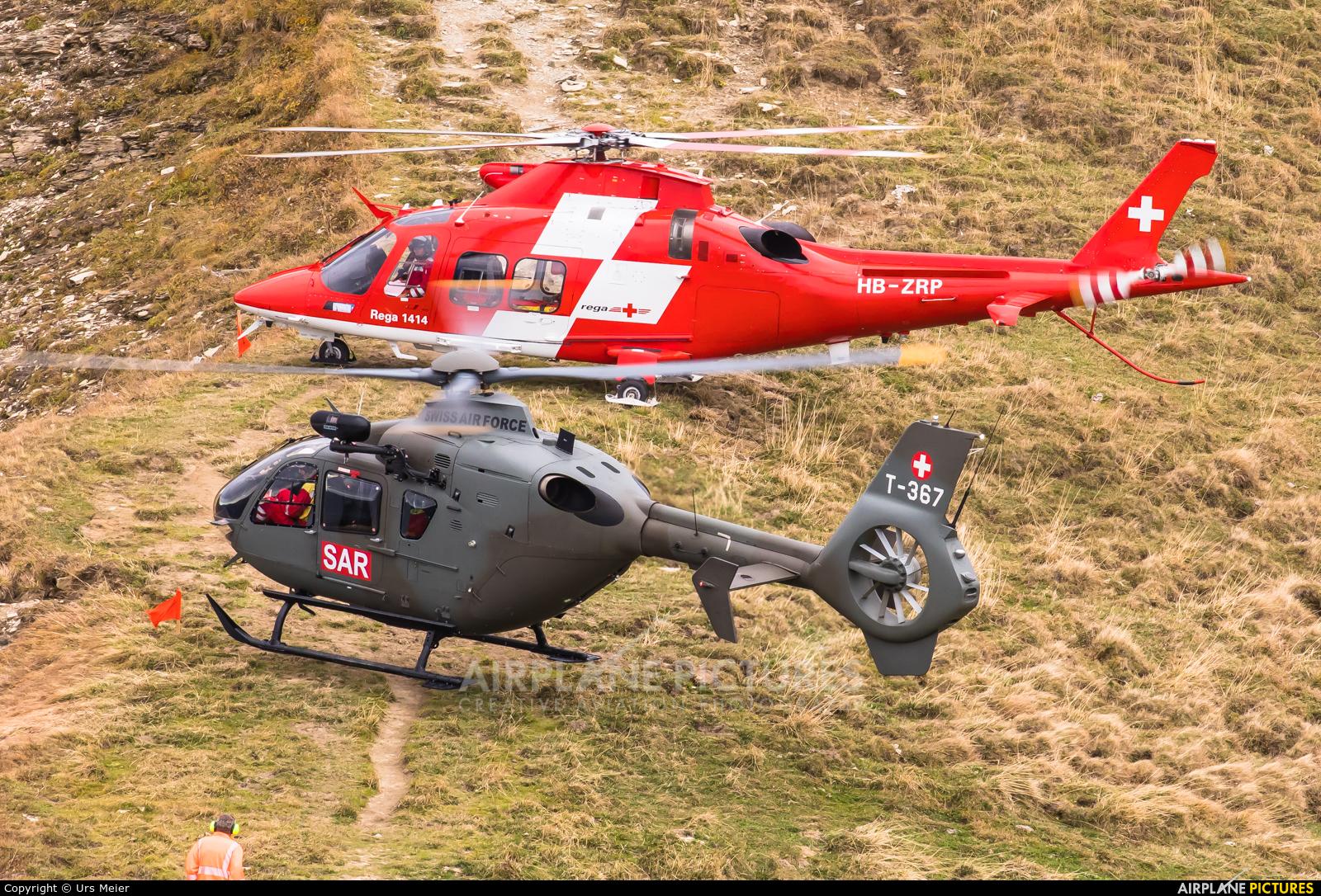 Switzerland - Air Force T-367 aircraft at Axalp - Ebenfluh Range