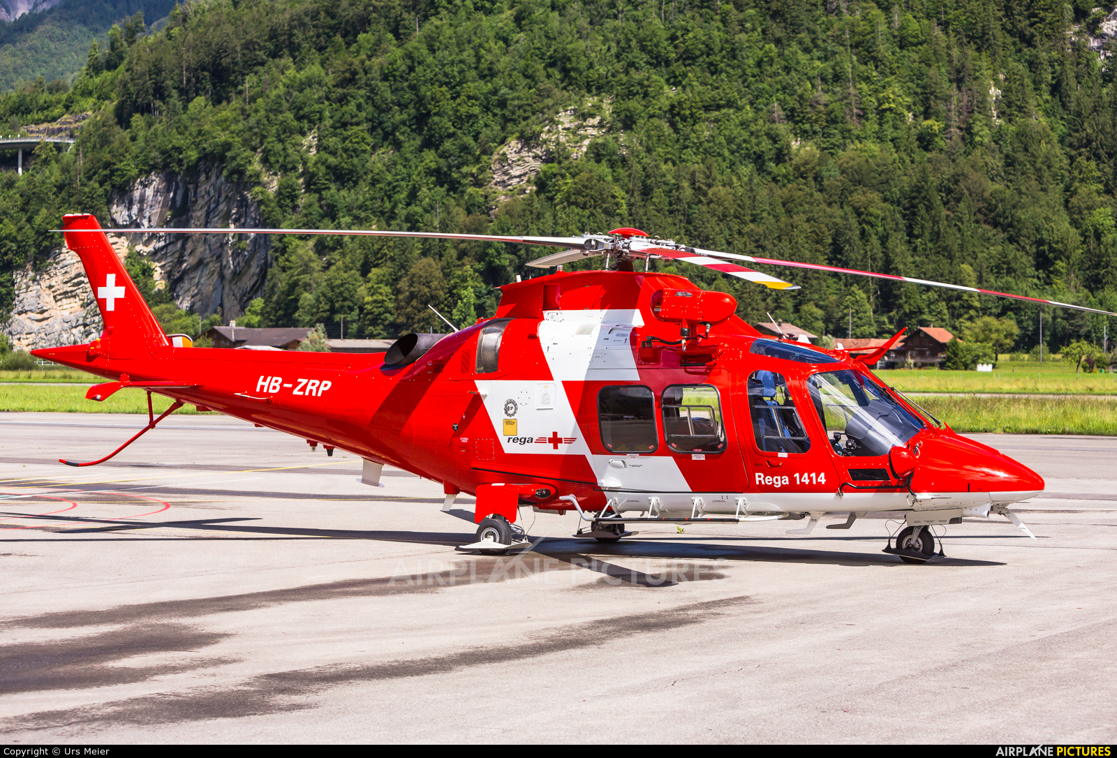 REGA Swiss Air Ambulance  HB-ZRP aircraft at Meiringen