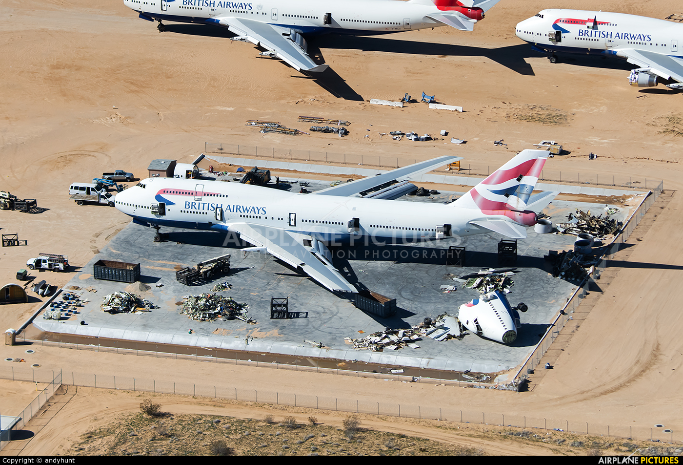British Airways G-BNLH aircraft at Victorville - Southern California Logistics