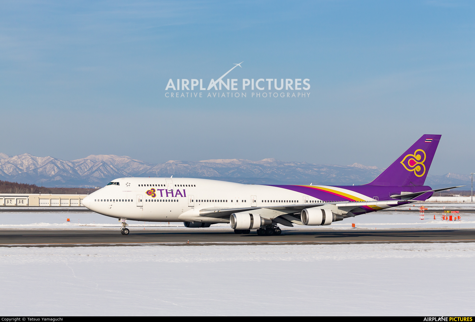 Thai Airways HS-TGB aircraft at New Chitose