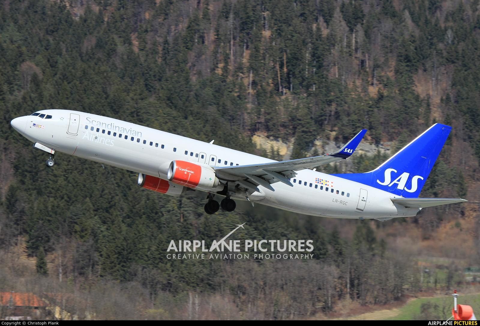 SAS - Scandinavian Airlines LN-RGC aircraft at Innsbruck