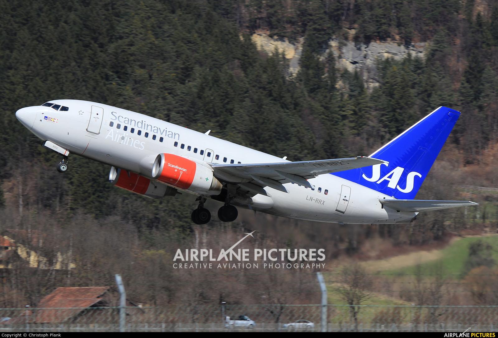 SAS - Scandinavian Airlines LN-RRX aircraft at Innsbruck