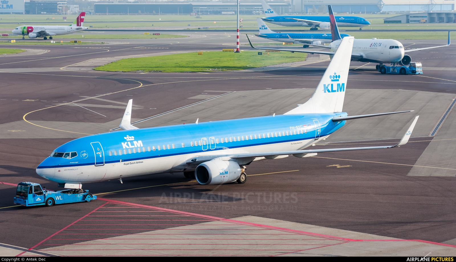 KLM PH-BXG aircraft at Amsterdam - Schiphol