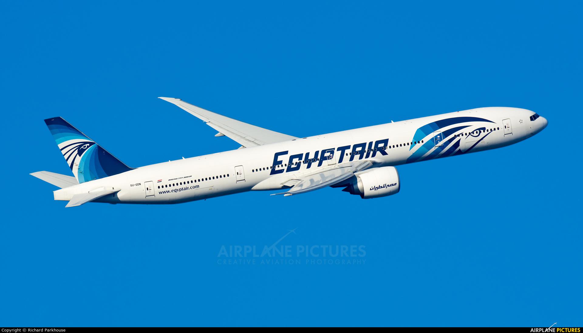 Egyptair SU-GDN aircraft at London - Heathrow