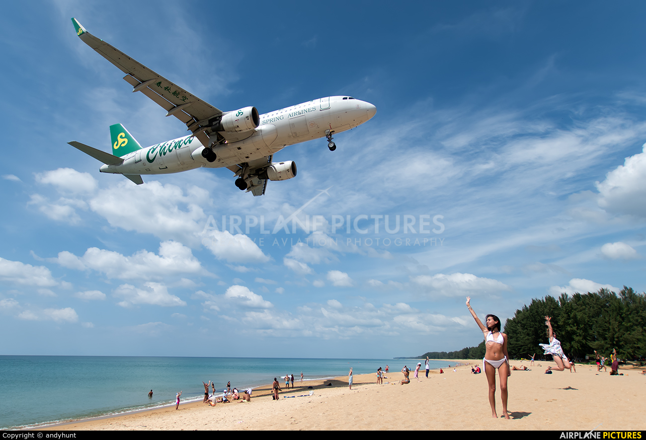 Spring Airlines B-1839 aircraft at Phuket