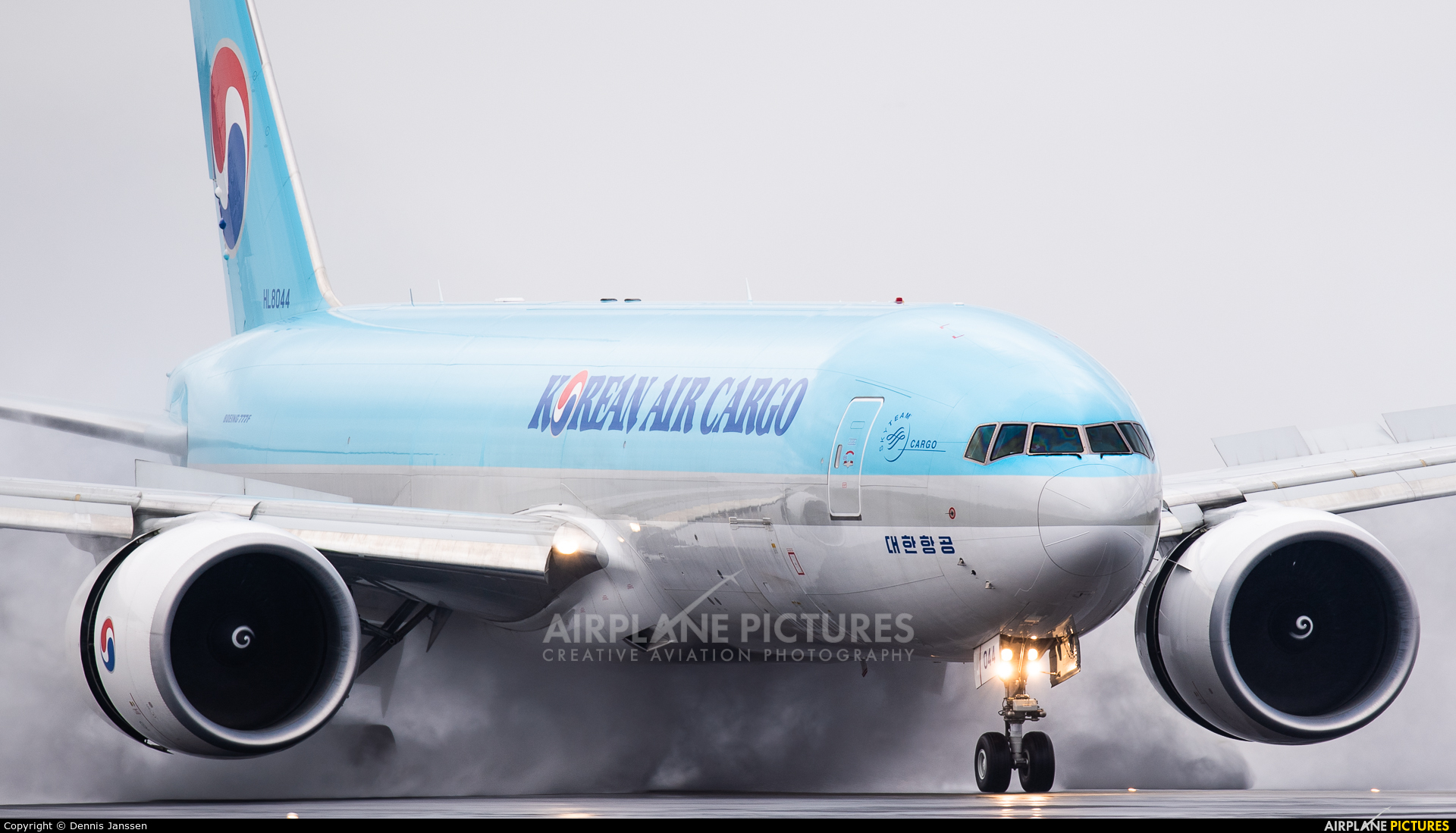 Korean Air Cargo HL8044 aircraft at Amsterdam - Schiphol