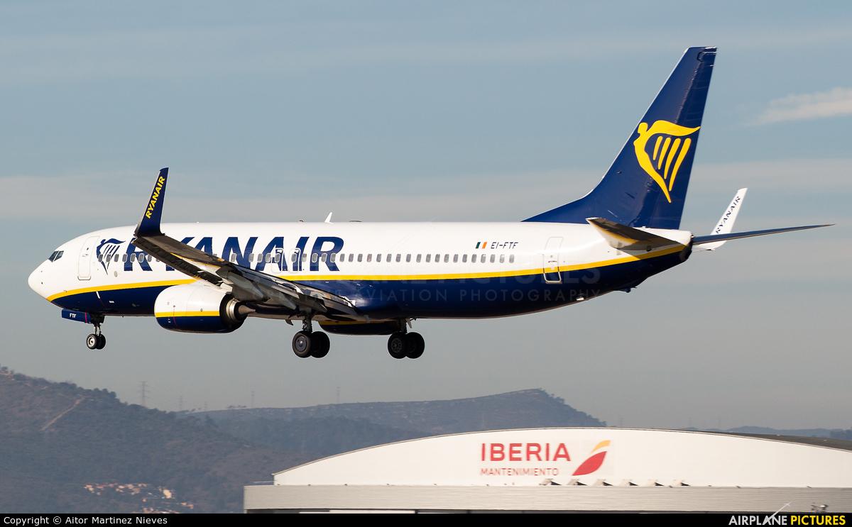 Ryanair EI-FTF aircraft at Barcelona - El Prat