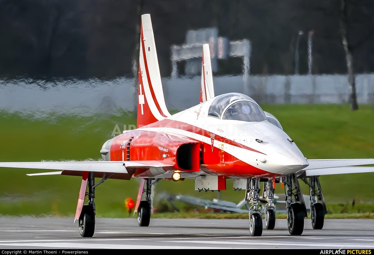 Switzerland - Air Force:  Patrouille de Suisse J-3087 aircraft at Emmen