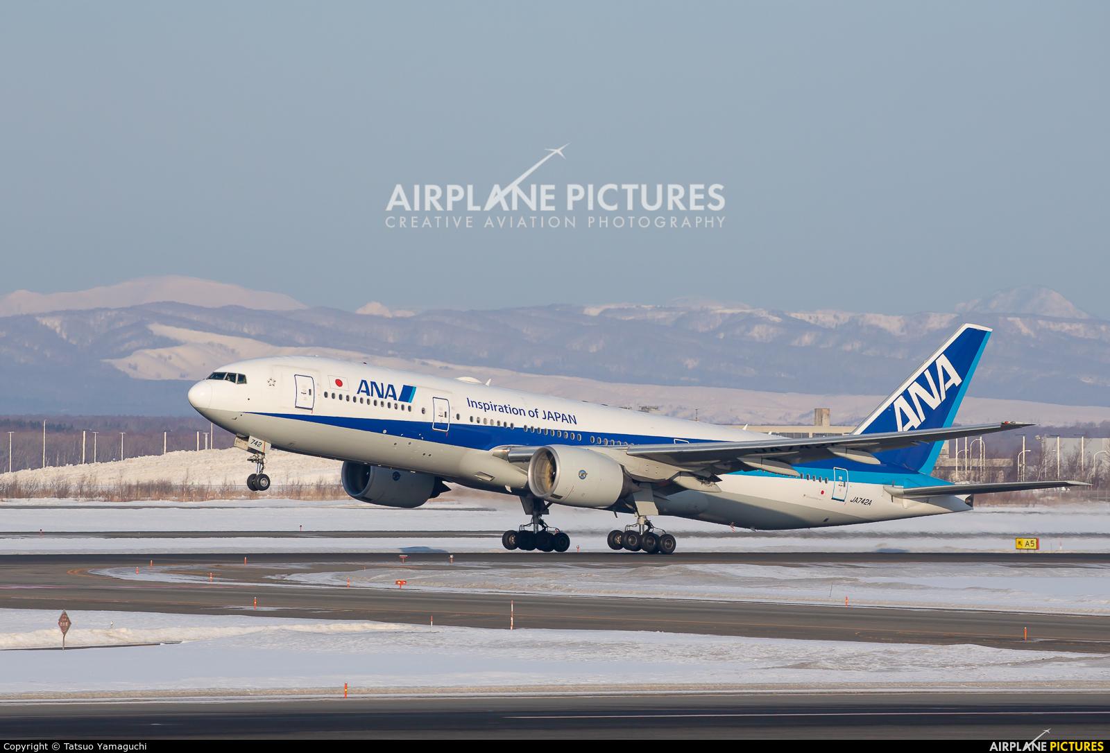 ANA - All Nippon Airways JA742A aircraft at New Chitose