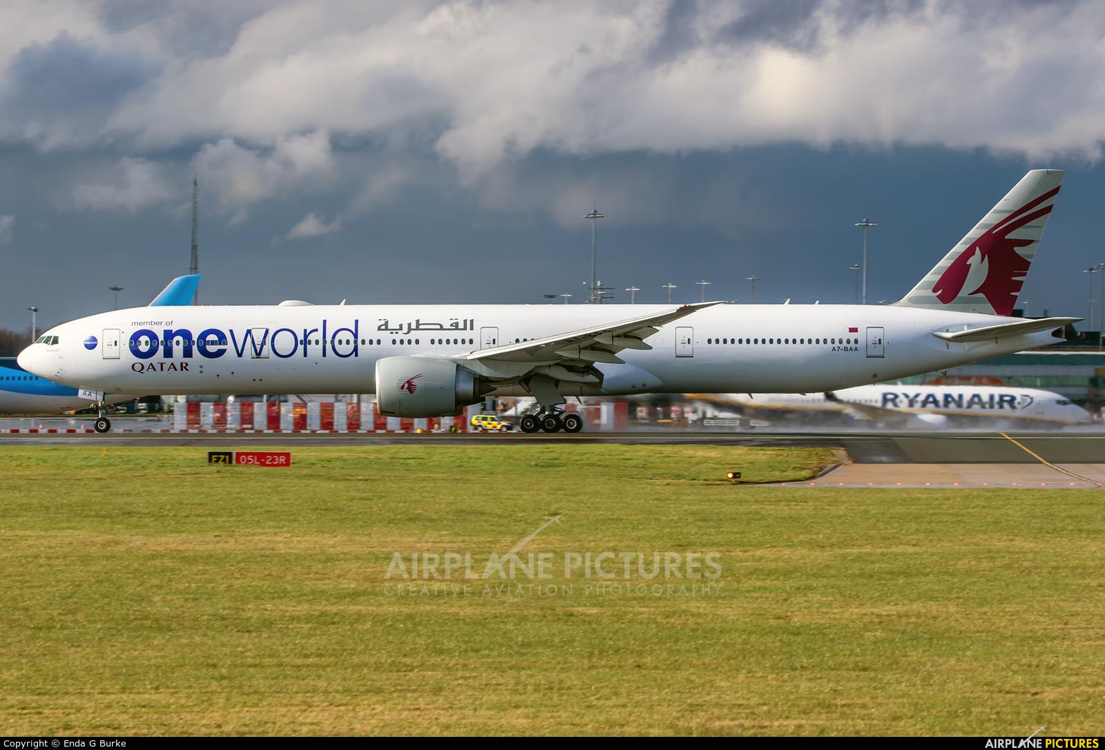 Qatar Airways A7-BAA aircraft at Manchester