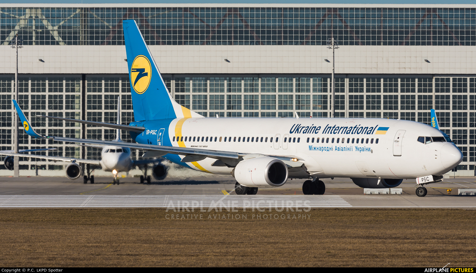 Ukraine International Airlines UR-PSC aircraft at Munich