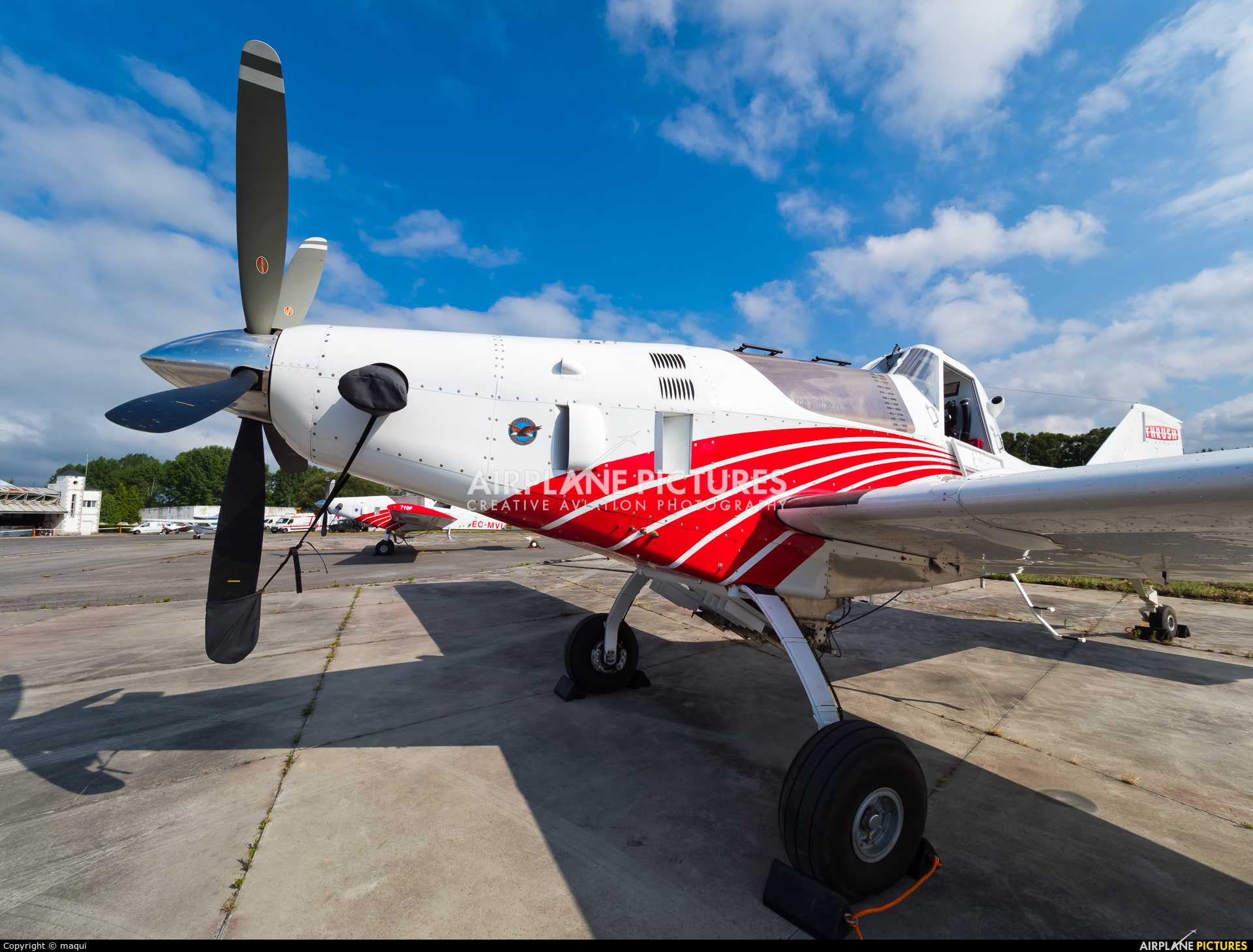 Plysa EC-MUO aircraft at Lugo - Rozas