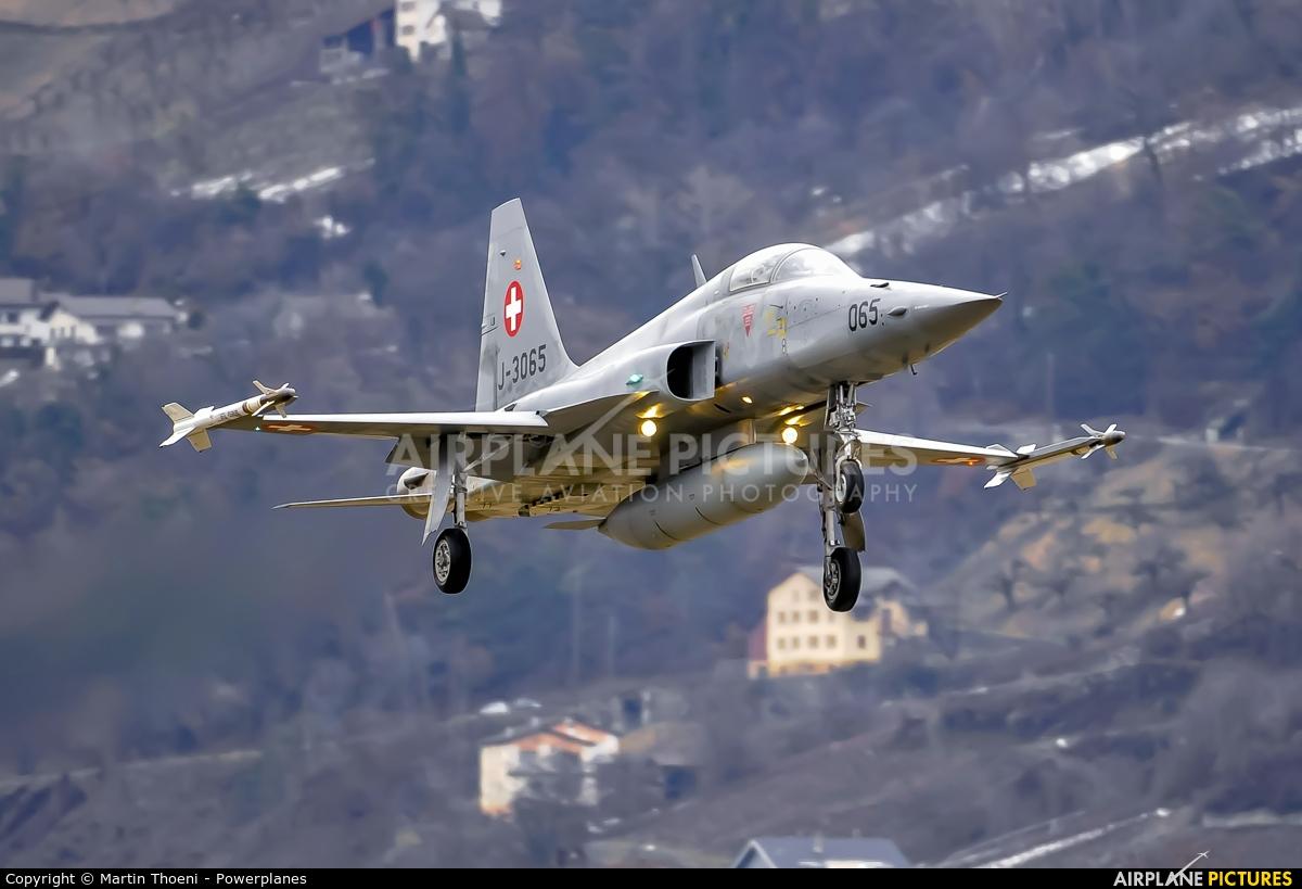Switzerland - Air Force J-3065 aircraft at Sion
