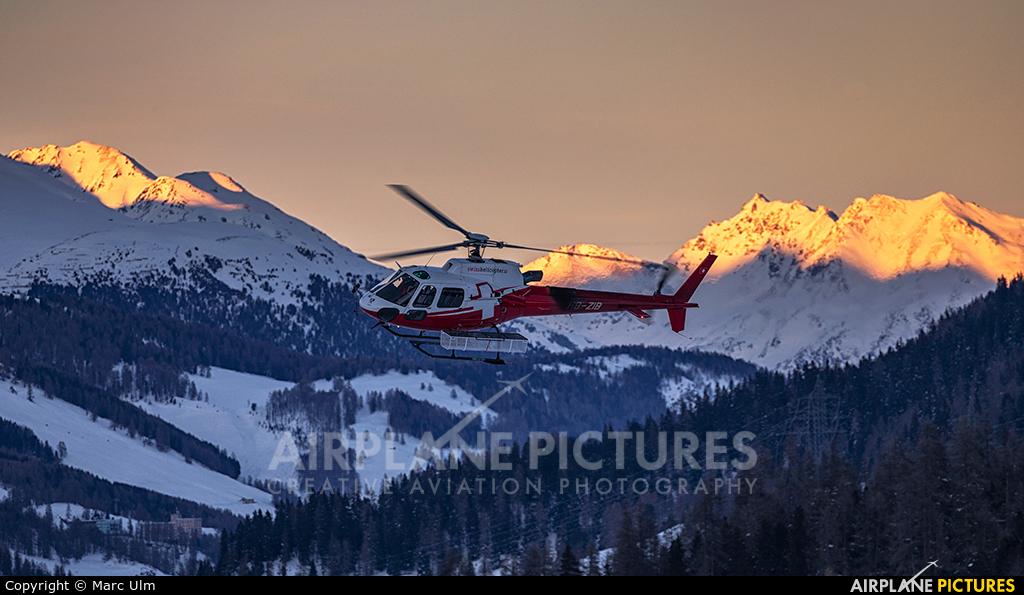 Swiss Helicopter HB-ZIB aircraft at Samedan - Engadin