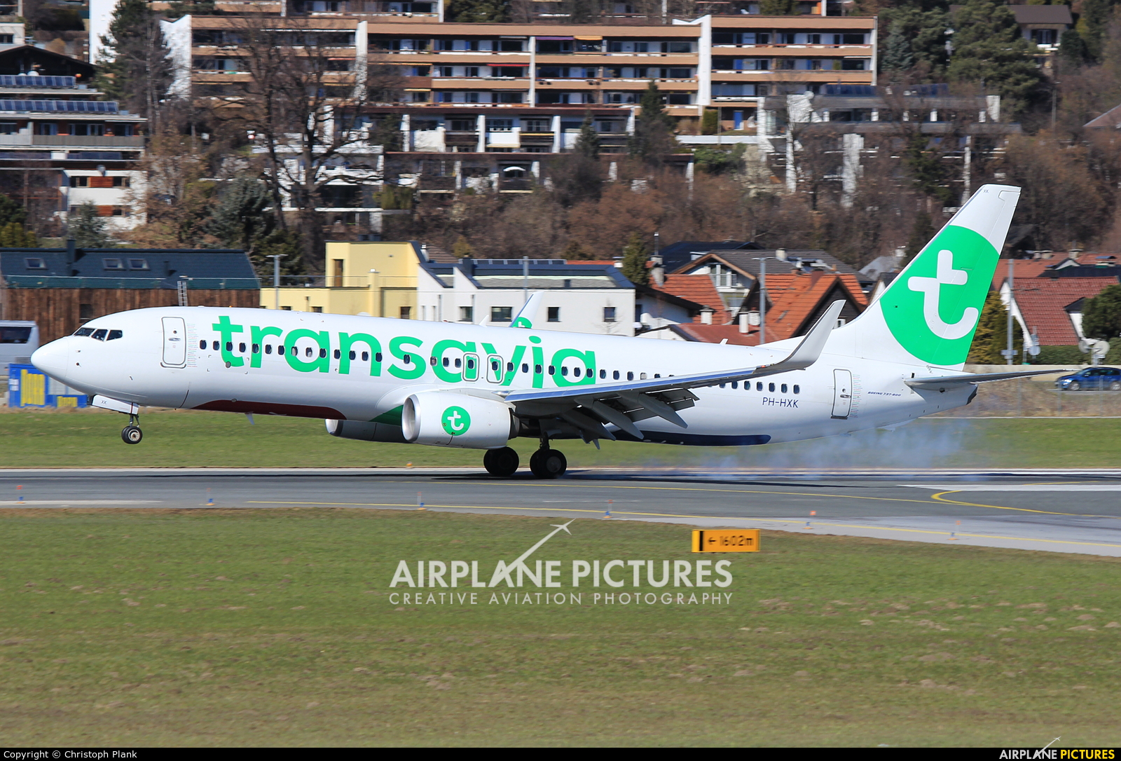 Transavia PH-HXK aircraft at Innsbruck