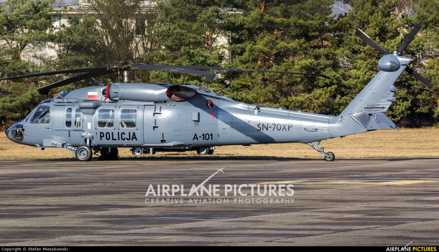Poland - Police SN-70XP aircraft at Warsaw - Babice