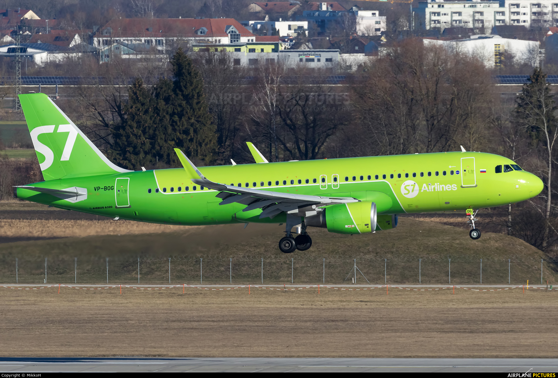 S7 Airlines VP-BOG aircraft at Munich