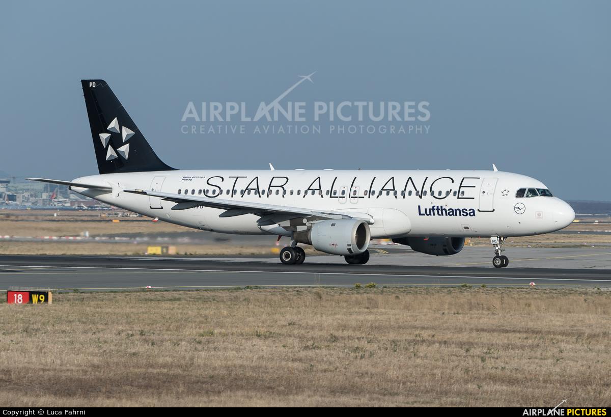 Lufthansa D-AIPD aircraft at Frankfurt