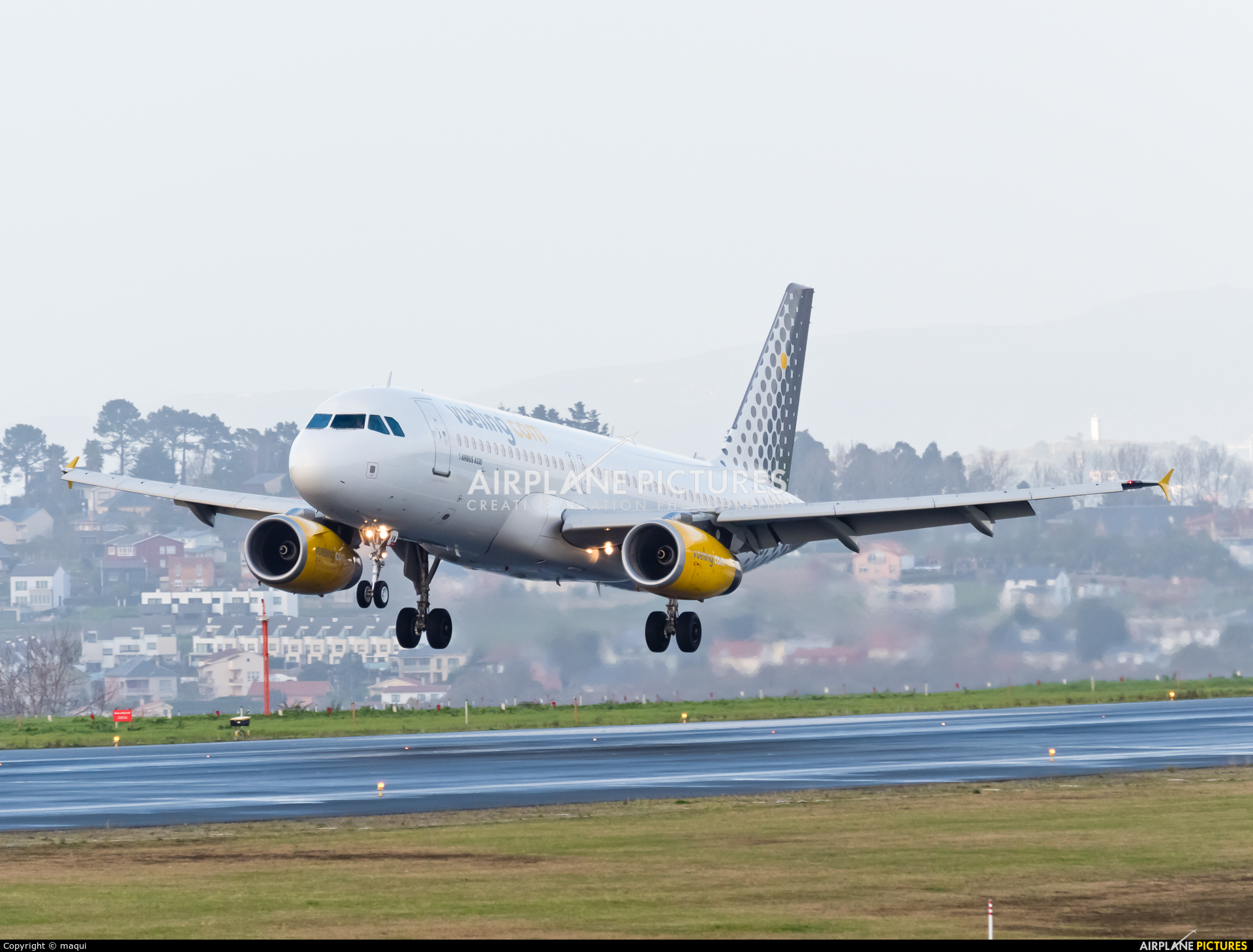 Vueling Airlines EC-MVM aircraft at La Coruña