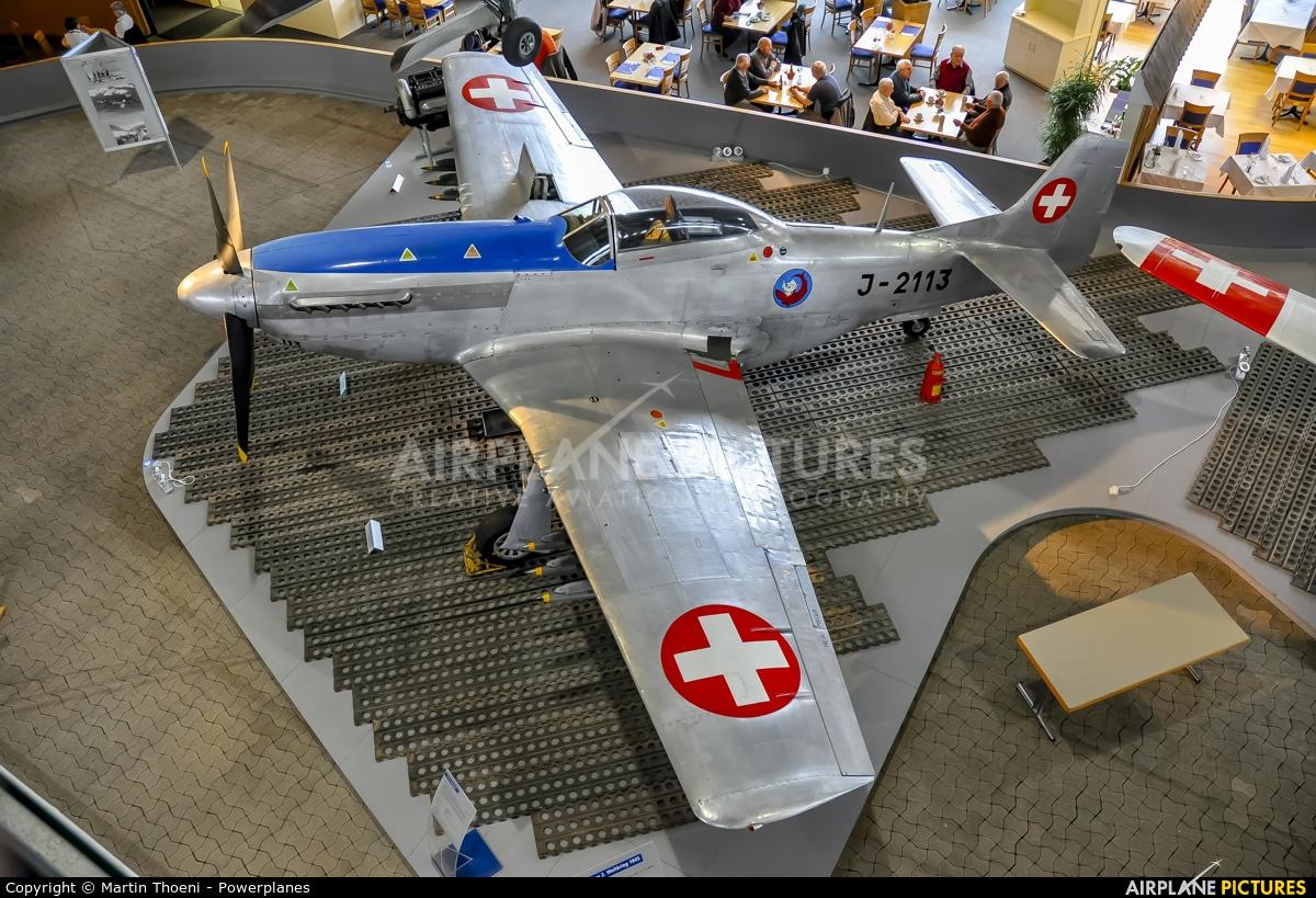 Switzerland - Air Force J-2113 aircraft at Dübendorf Fliegermuseum