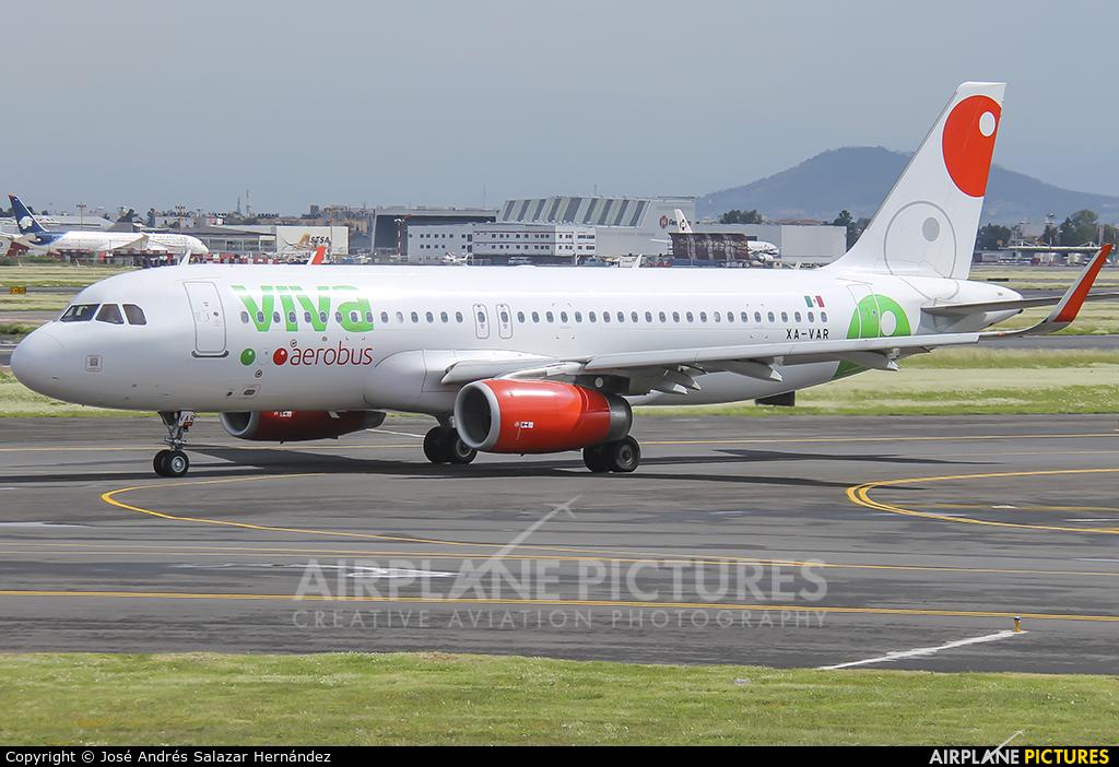 VivaAerobus XA-VAR aircraft at Mexico City - Licenciado Benito Juarez Intl