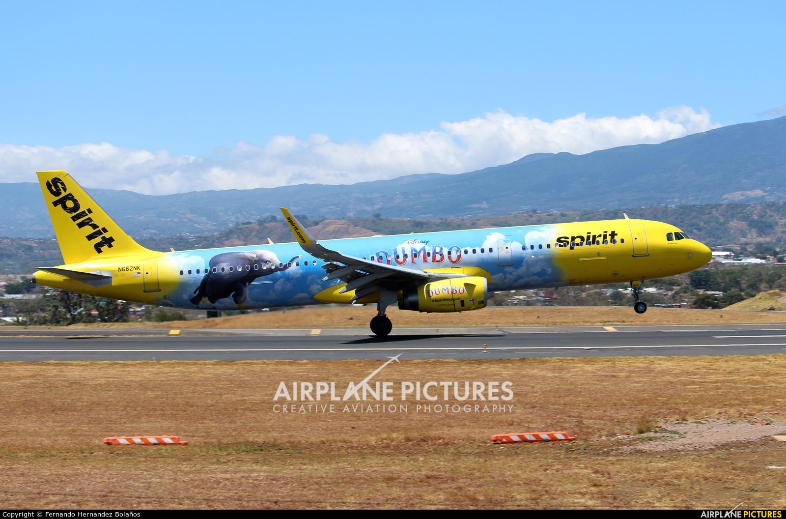 Spirit Airlines N662NK aircraft at San Jose - Juan Santamaría Intl
