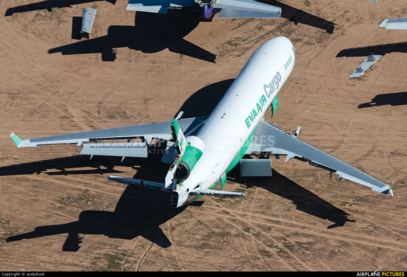EVA Air Cargo B-16108 aircraft at Victorville - Southern California Logistics