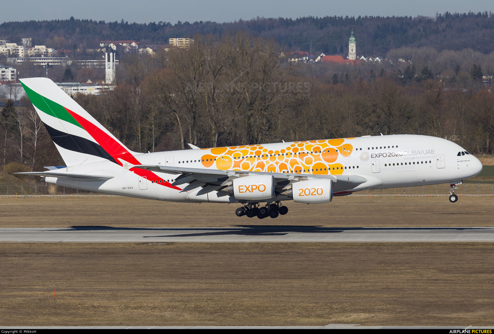 Emirates Airlines A6-EEA aircraft at Munich