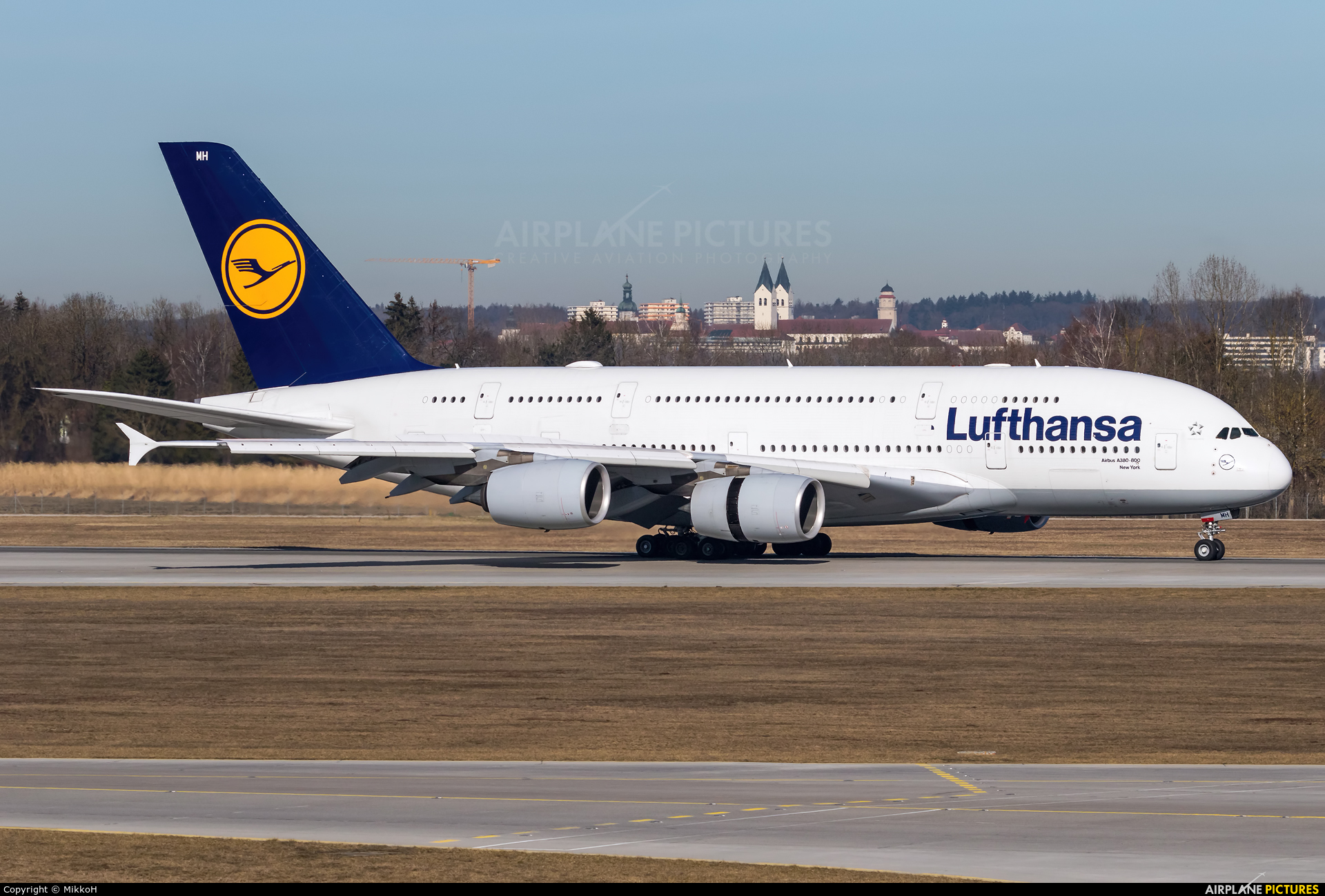 Lufthansa D-AIMH aircraft at Munich