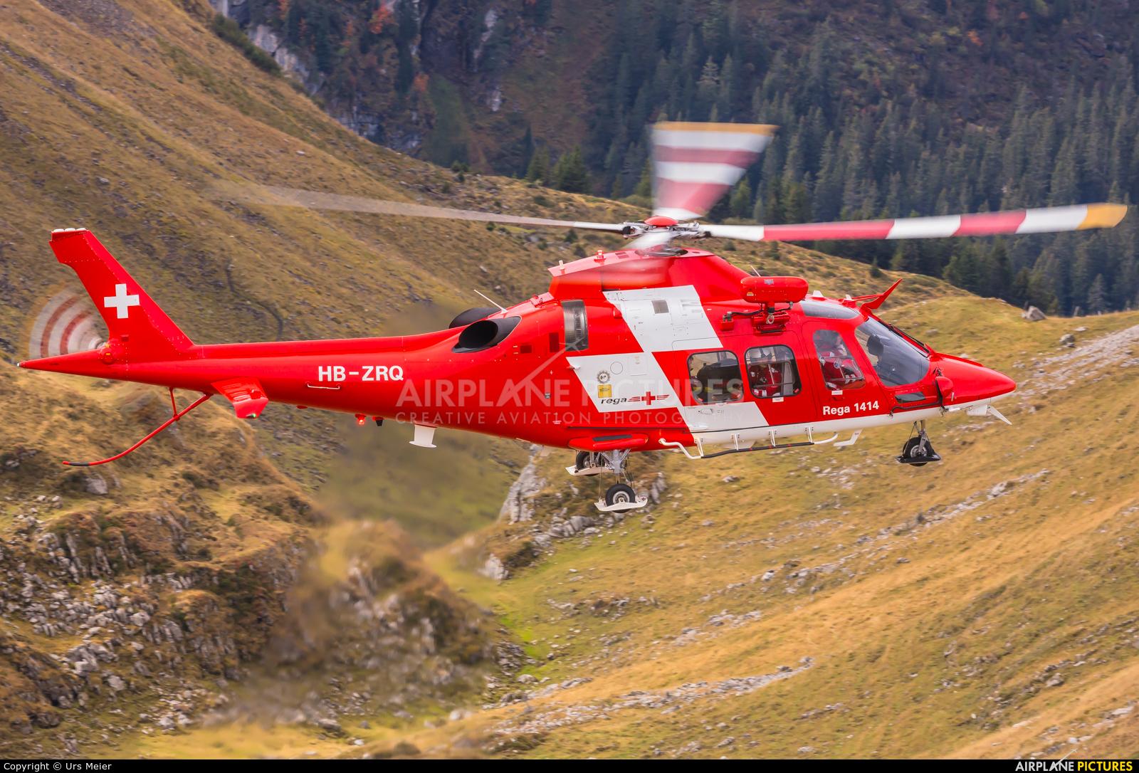 REGA Swiss Air Ambulance  HB-ZRQ aircraft at Axalp - Ebenfluh Range
