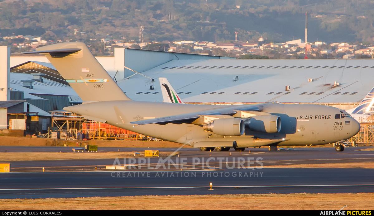 USA - Air Force 07-7169 aircraft at San Jose - Juan Santamaría Intl