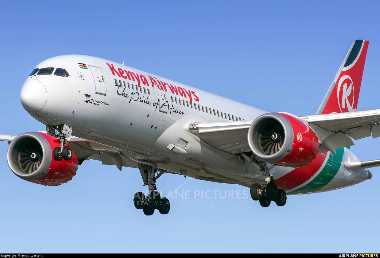 Kenya Airways 5Y-KZA aircraft at London - Heathrow