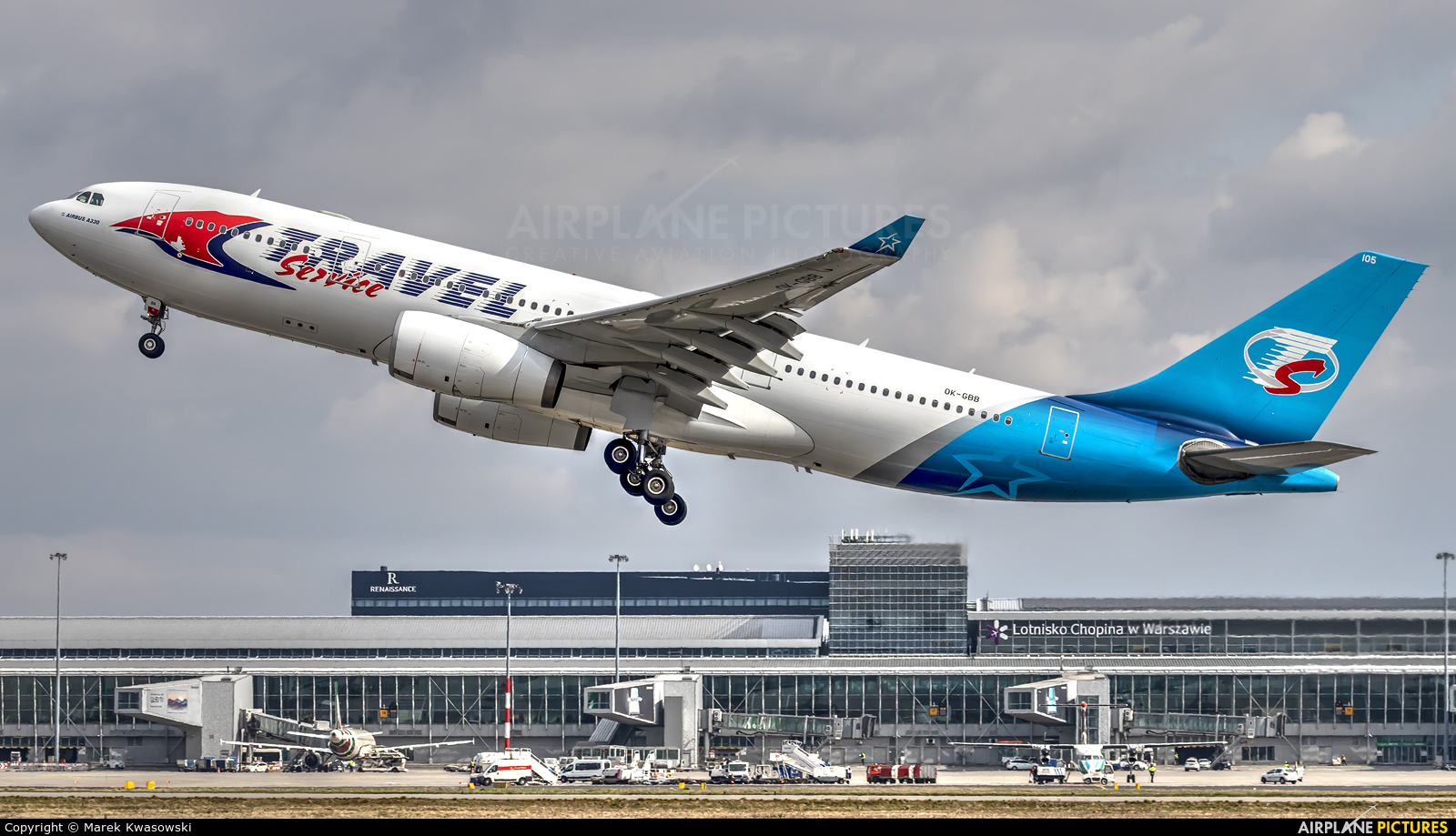 Travel Service OK-GBB aircraft at Warsaw - Frederic Chopin