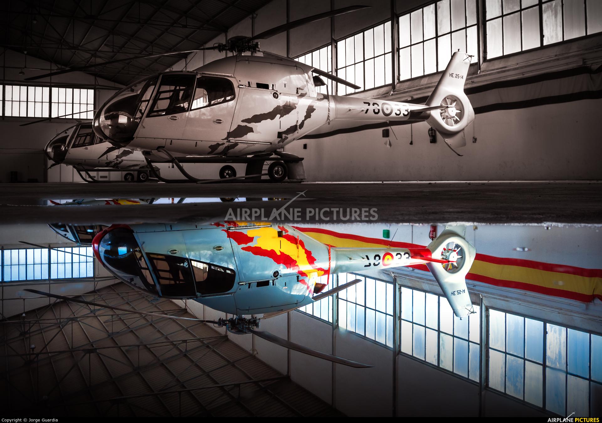 Spain - Air Force: Patrulla ASPA HE.25-14 aircraft at Granada - Armilla