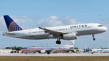 N491UA - United Airlines Airbus A320