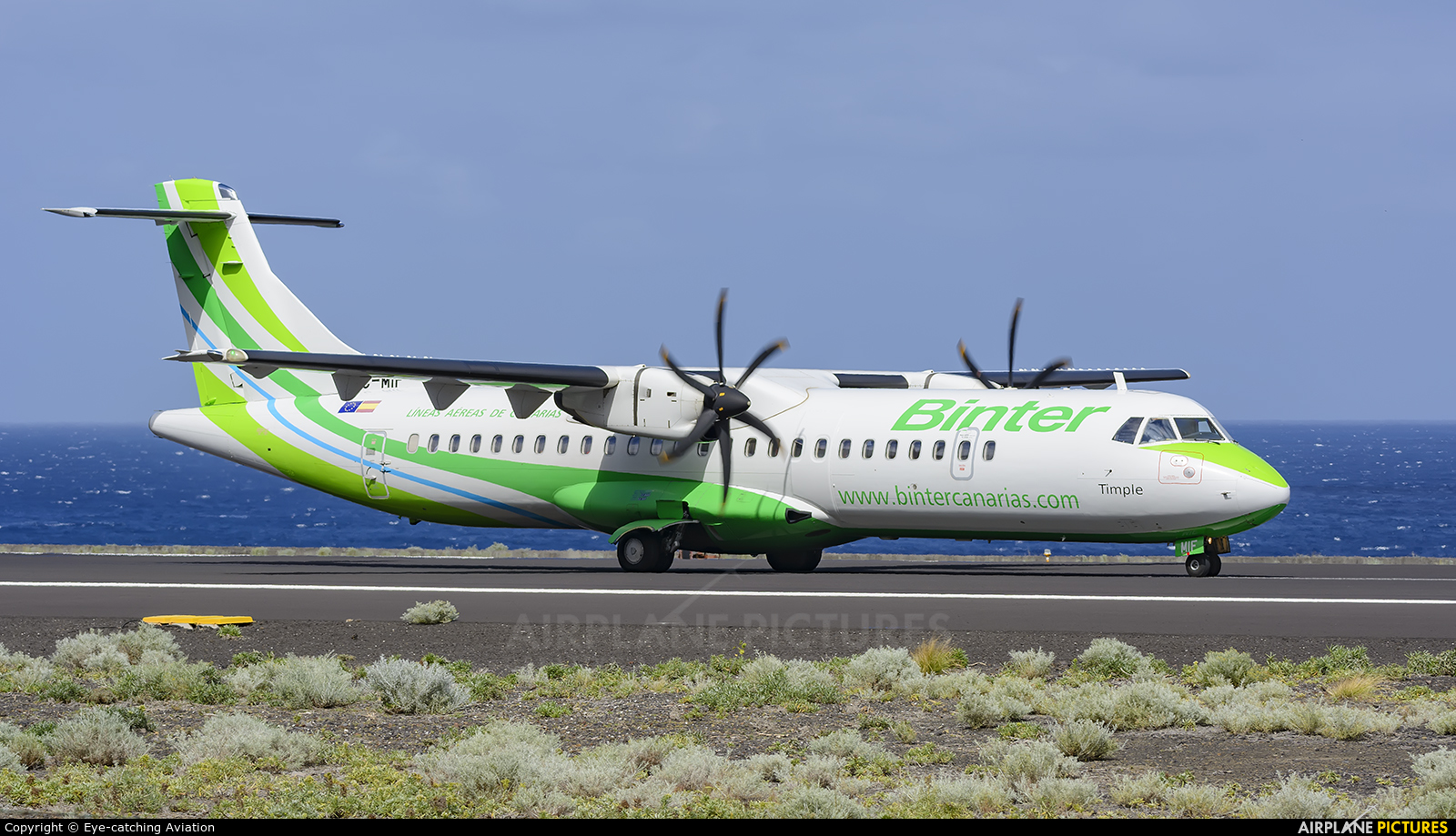Binter Canarias EC-MIF aircraft at Santa Cruz de La Palma