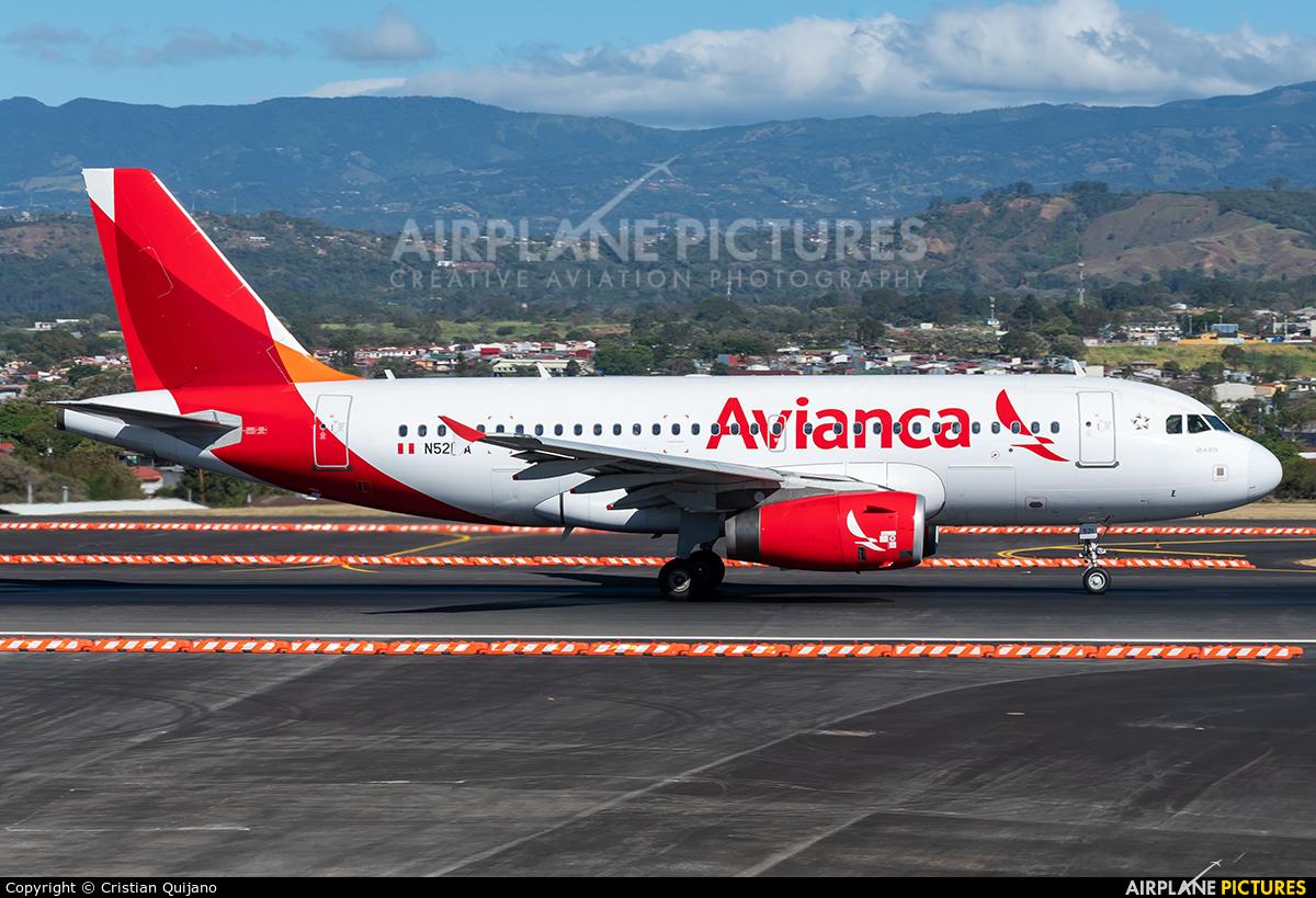 Avianca N521TA aircraft at San Jose - Juan Santamaría Intl