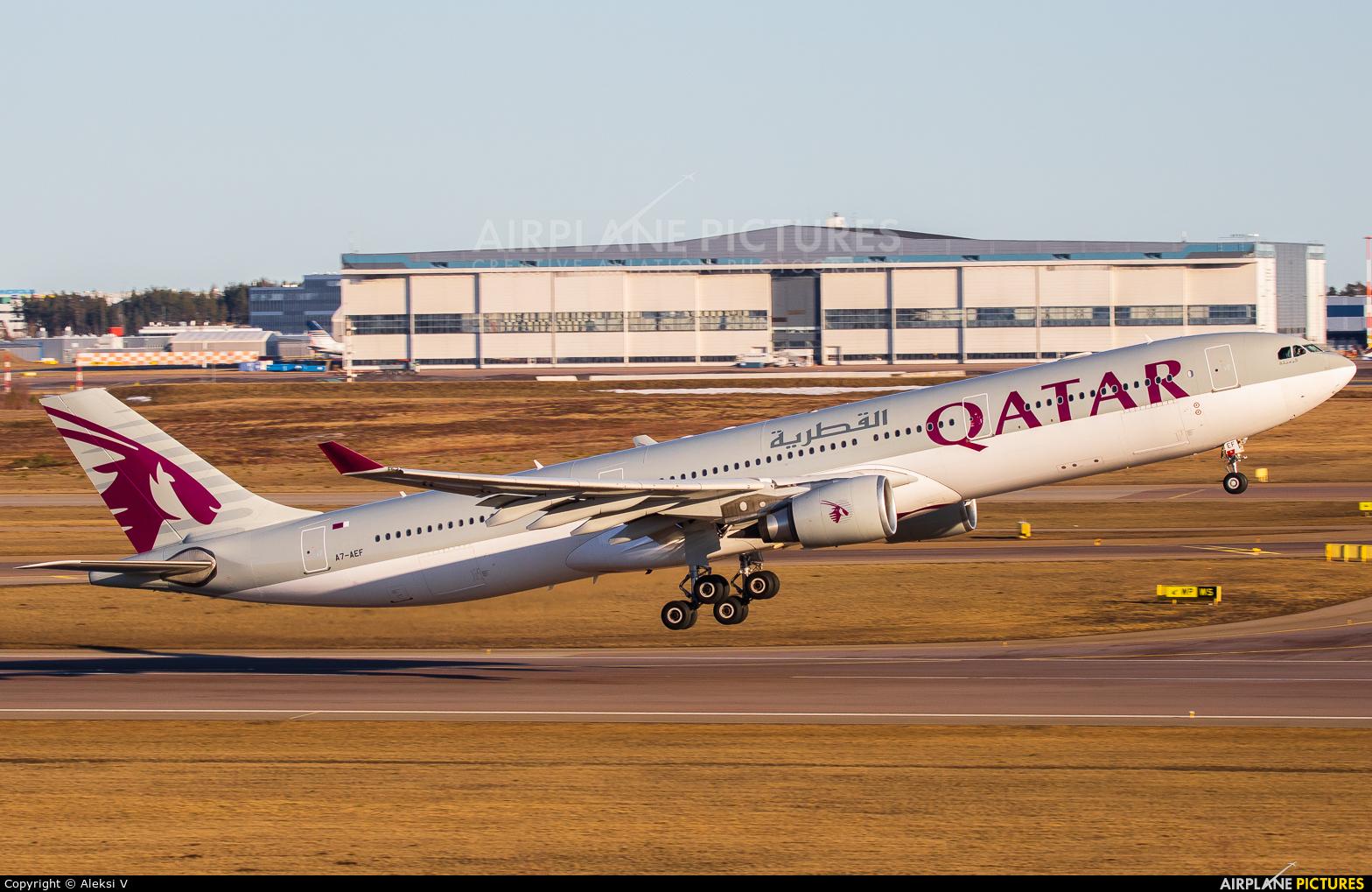 Qatar Airways A7-AEF aircraft at Helsinki - Vantaa