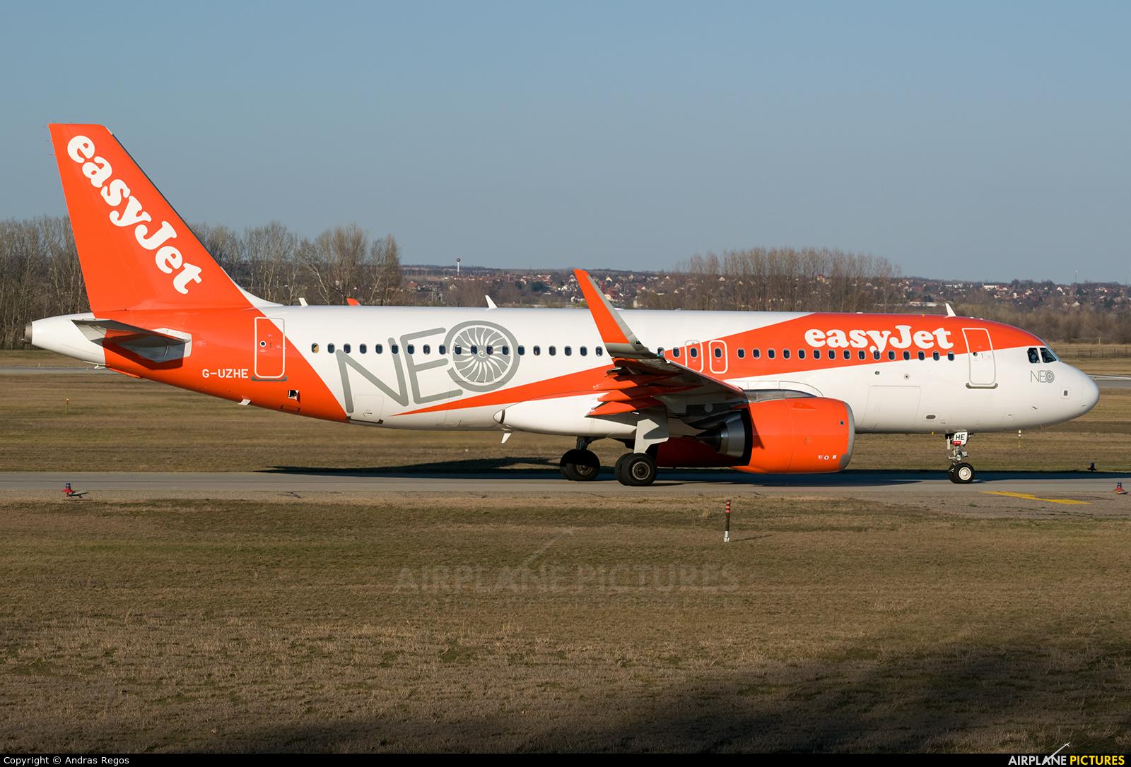 easyJet G-UZHE aircraft at Budapest Ferenc Liszt International Airport