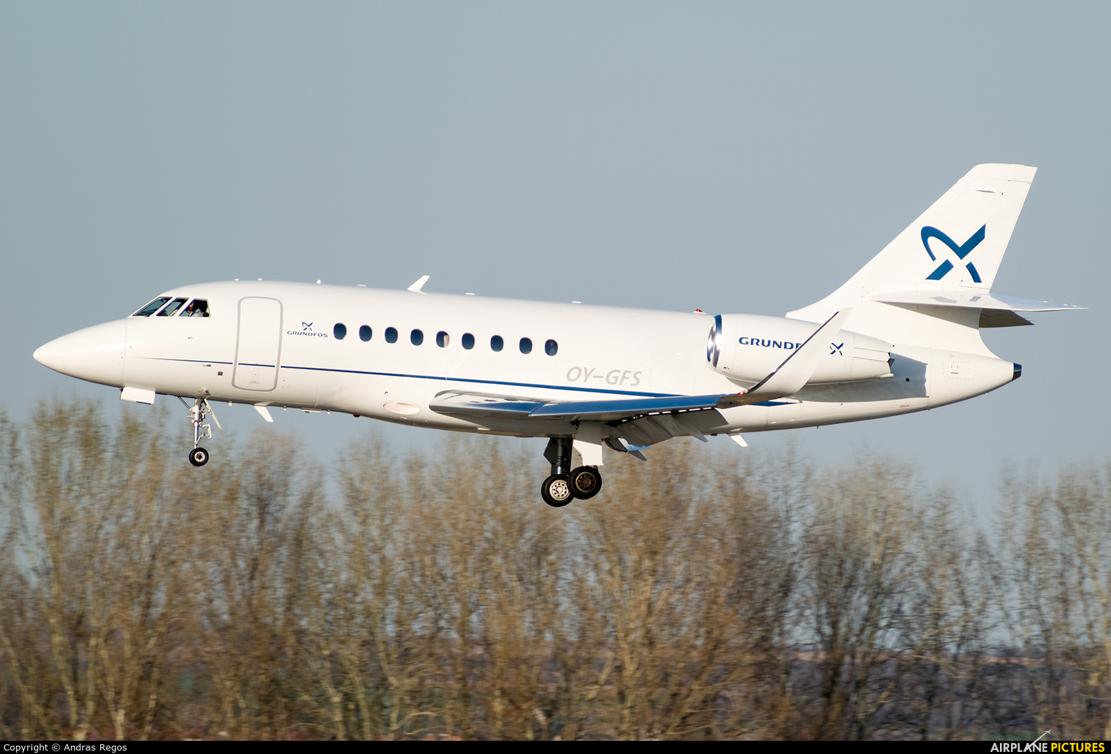 Air Alsie OY-GFS aircraft at Budapest Ferenc Liszt International Airport