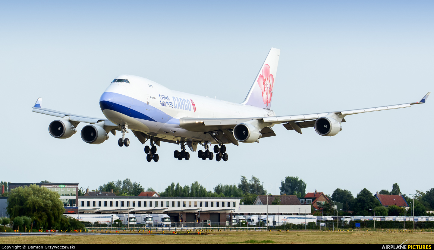 China Airlines Cargo B-18723 aircraft at Amsterdam - Schiphol