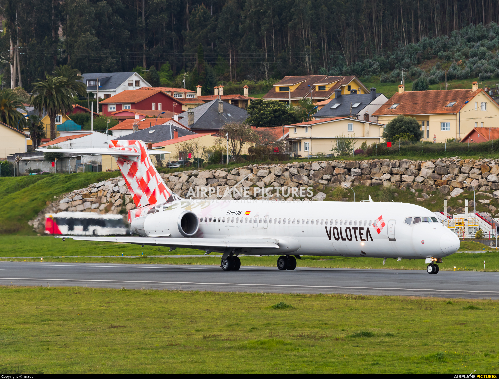 Volotea Airlines EI-FCB aircraft at La Coruña