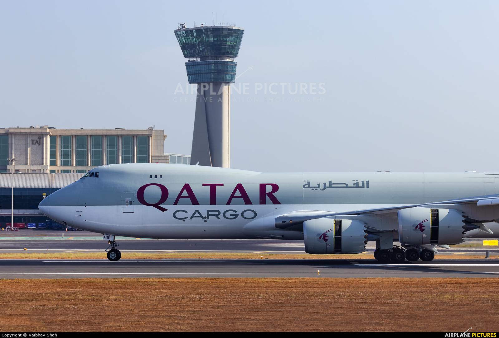 Qatar Airways Cargo A7-BGB aircraft at Mumbai - Chhatrapati Shivaji Intl