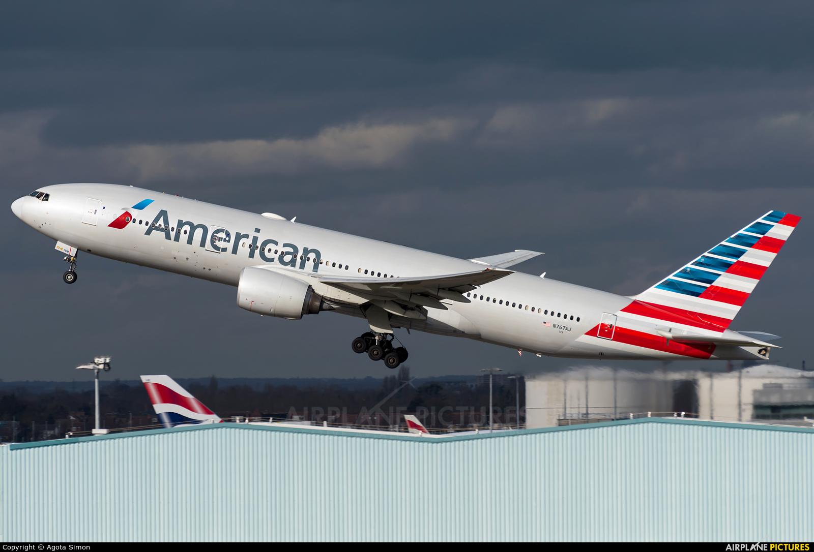 American Airlines N767AJ aircraft at London - Heathrow