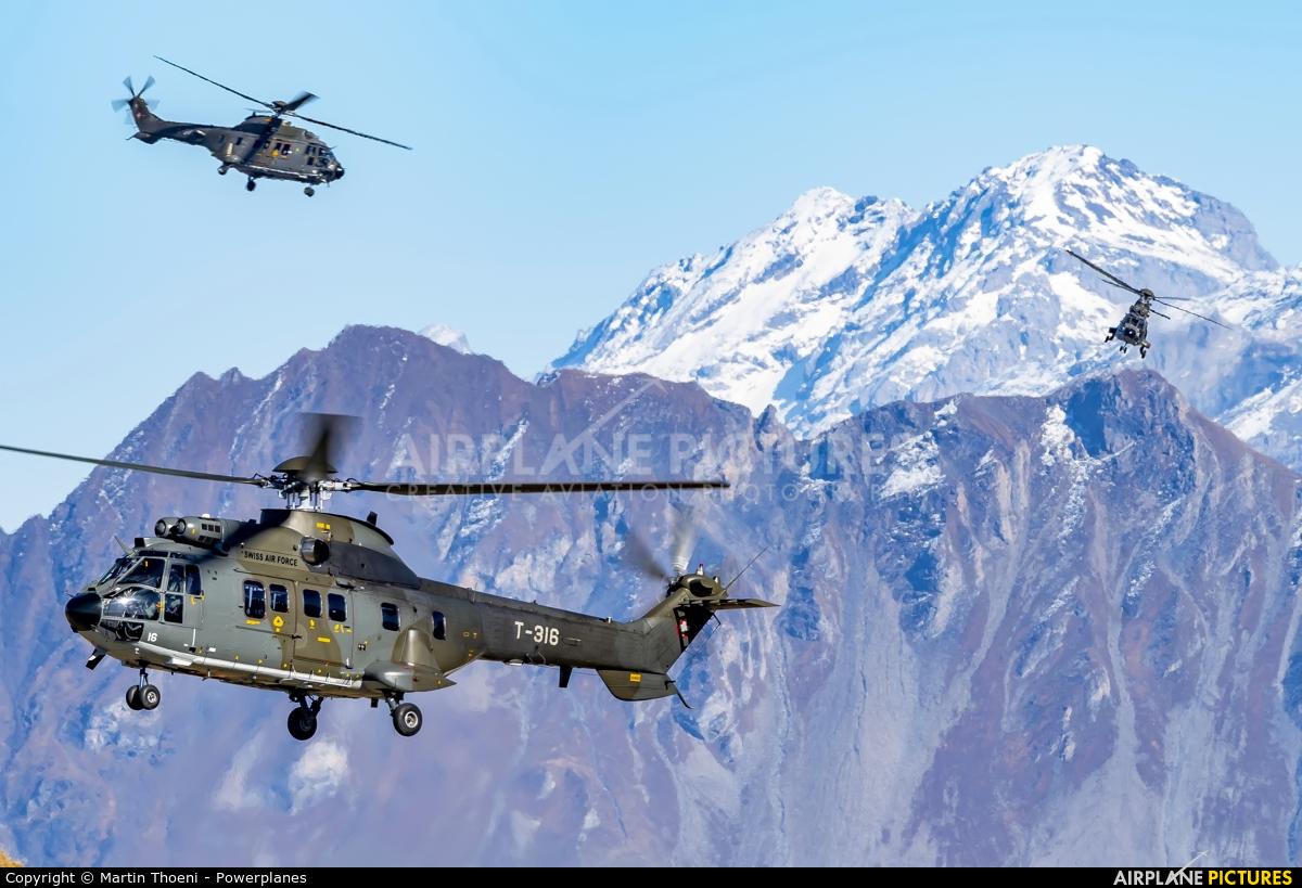 Switzerland - Air Force T-316 aircraft at Axalp - Ebenfluh Range