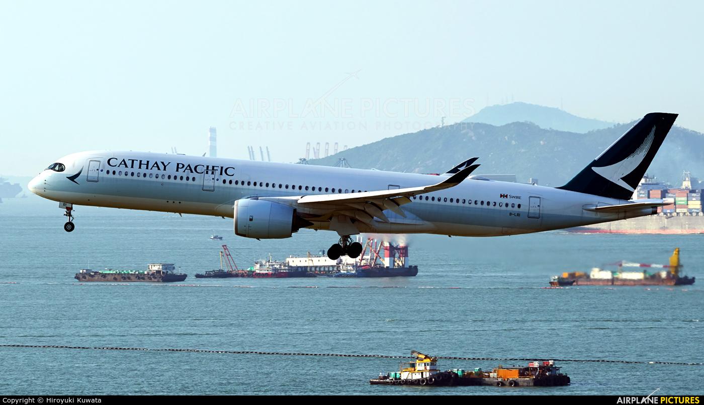 Cathay Pacific B-LRI aircraft at HKG - Chek Lap Kok Intl