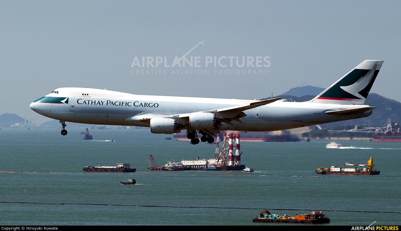 Cathay Pacific Cargo B-LJK aircraft at HKG - Chek Lap Kok Intl
