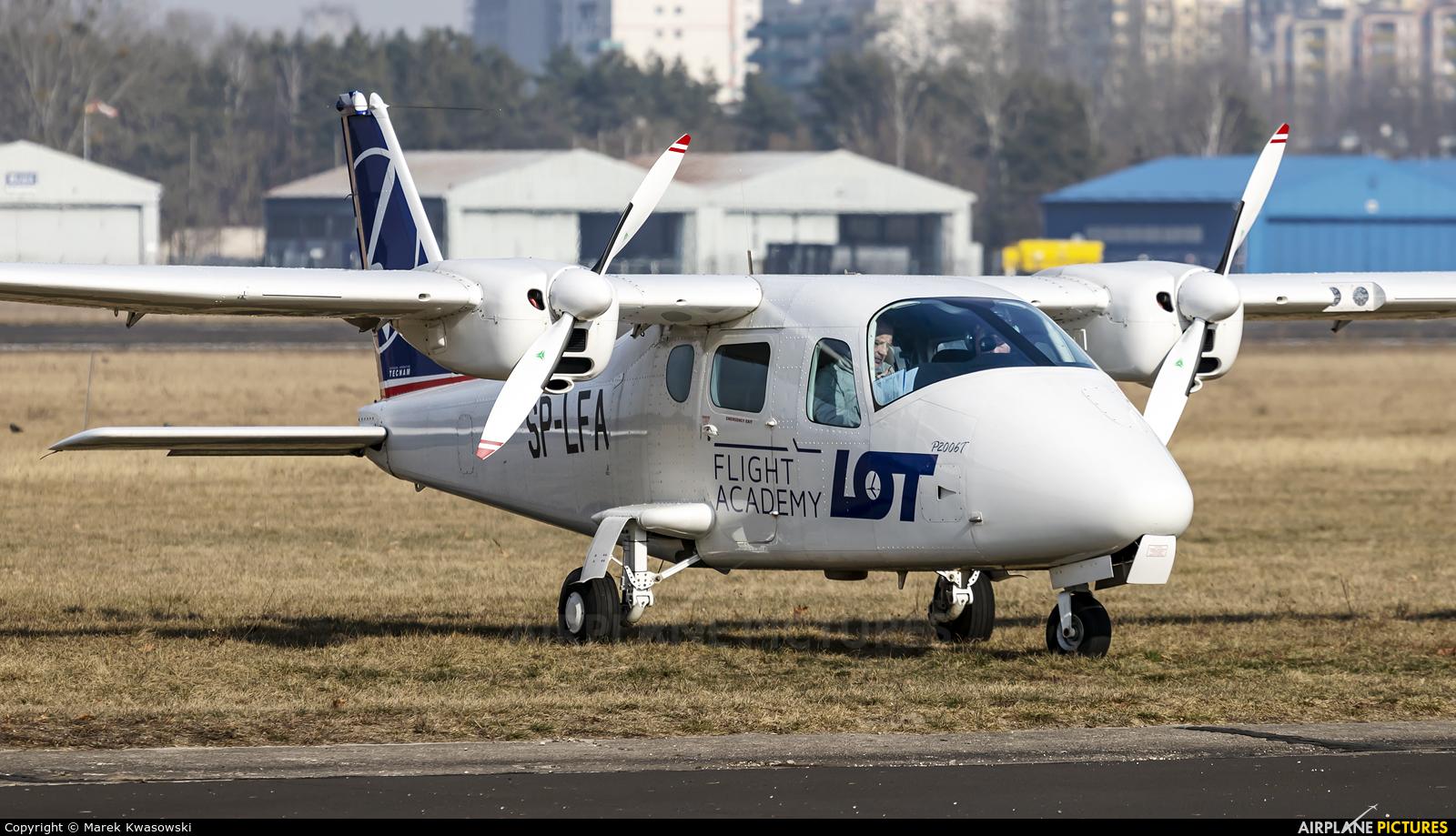 LOT Flight Academy SP-LFA aircraft at Warsaw - Babice