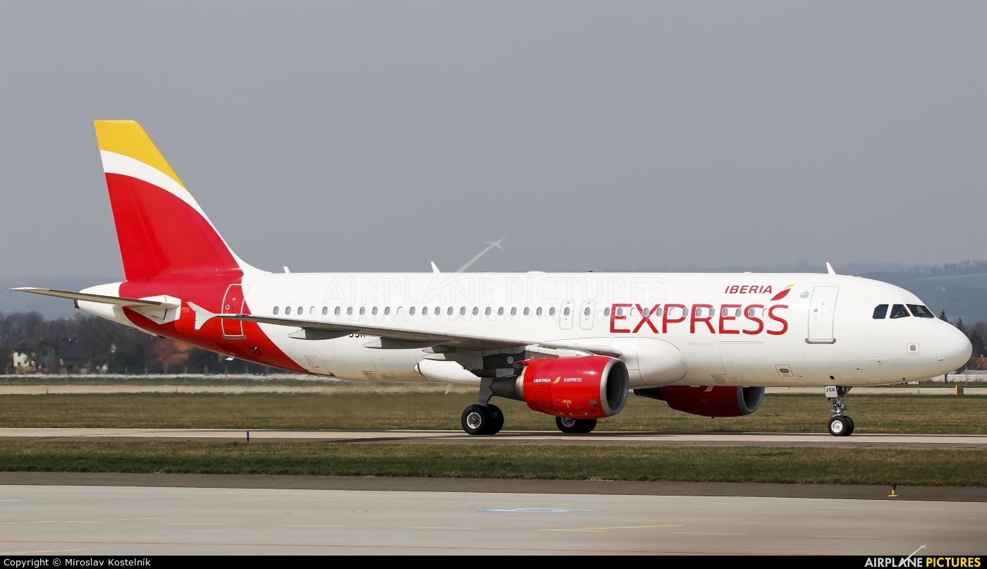Iberia Express EC-JSK aircraft at Ostrava Mošnov